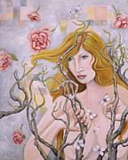 Female Painting Originals - Spring by Sheri Howe