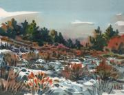Snowy Painting Originals - Spring Thaw by Donald Maier