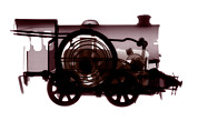 Toy Train Prints - Spring Train, X-ray Print by Neal Grundy