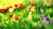Fruehling Posters - Springtime Poster by Angela Doelling AD DESIGN Photo and PhotoArt