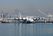 Spruce Goose Photos - Spruce Goose Floating in Harbor October 29 1981 by Brian Lockett