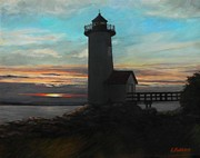 Eileen Patten Oliver - Squam Light at Sunset