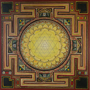 Yantra Framed Prints - Sri Yantra Framed Print by Karl Seitinger