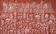 Indian Tribal Art Paintings - Ssm 01 by Sada Shiv Mashe