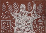 Indian Tribal Art Paintings - Ssm 03 by Sada Shiv Mashe