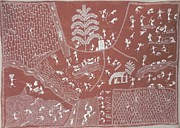 Indian Tribal Art Paintings - Ssm 05 by Sada Shiv Mashe