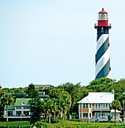 Florida House Photo Metal Prints - St. Augustine Lighthouse Metal Print by Kenneth Albin
