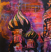 Moscow Paintings - St Basil by Martina Anagnostou