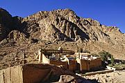 Sinai Monastery Framed Prints - St. Catherines Monastery Framed Print by Michele Burgess