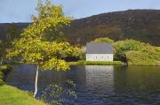 Gougane Barra Church Photo Metal Prints - St. Finbarres Oratory On Shore Metal Print by Ken Welsh