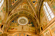 St Francis Basilica   Assisi Italy Print by Jon Berghoff