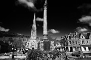 Picturesque Town Prints - St Kessogs Church Visit Scotland Tourist Centre And War Memorial In Ancaster Square In The Picturesq Print by Joe Fox