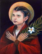 Religious Art Painting Framed Prints - St. Maria Goretti Framed Print by Sharon Clossick
