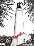Lighthouse Drawings - St Marks Lighthouse by Frederic Kohli