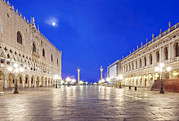 Man Made Space Prints - St. Marks Square Piazza San Marco Print by Rob Tilley