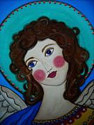 St Michael Archangel Print by Pristine Cartera Turkus