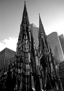 New York City Pyrography Prints - St. Patricks Cathedral Print by MikAn Valencia
