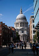 London Cityscape Posters - St Pauls Cathedral Poster by Dawn OConnor
