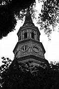 St. Joseph Framed Prints - St. Philips Church Steeple Framed Print by Dustin K Ryan