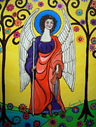 Angel Paintings - St Raphael Archangel by Pristine Cartera Turkus