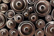 Fuel Prints - Stack Of Batteries Print by Carlos Caetano