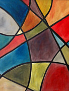 Colorfull Paintings - Stained Glass by Jerry Killian