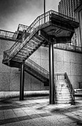 Downtown Stairs Metal Prints - Stairs Metal Print by Scott Norris