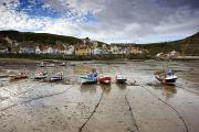 Residential Structure Framed Prints - Staithes, North Yorkshire, England Framed Print by John Short