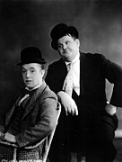Mustache Framed Prints - Stan Laurel, Oliver Hardy Laurel Framed Print by Everett