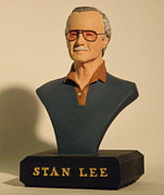 Thor Sculpture Posters - Stan Lee Poster by Nijel Binns