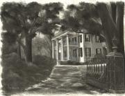 Hall Drawings Prints - Stanton Hall Print by Ron Landry