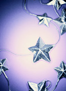 Linked Framed Prints - Star Garland Framed Print by Lawrence Lawry