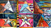 Pop Art Mixed Media Originals - Star Power by Mindy Newman