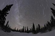 Kathleen Lake Photos - Star Trails And Milky Way by Yuichi Takasaka
