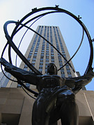 Suhas Tavkar Framed Prints - Statue at Rockefeller Center Framed Print by Suhas Tavkar