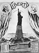 Statue Portrait Photos - Statue Of Liberty, 1885 by Granger