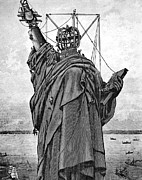 Liberated Photos - Statue Of Liberty, 1886 by Granger