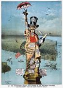 Liberated Prints - Statue Of Liberty Cartoon Print by Granger