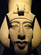 Statue Of Pharaoh Akhenaten, Also Known Print by Richard Nowitz