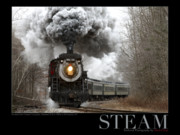 Pa Framed Prints - Steam at Elmhurst Framed Print by Daniel Troy