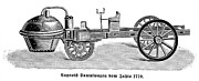 1770 Framed Prints - Steam Carriage, 1770 Framed Print by Granger