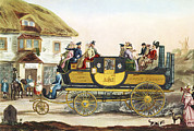 Carriage Road Photos - Steam-powered Coach, 1826 by Sheila Terry