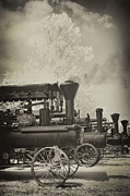 Historical Digital Art - Steam Tractor Line-up by Paul W Faust -  Impressions of Light
