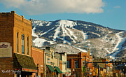 Skiing Art Print Prints - Steamboat Springs Print by Rachele Morlan