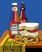 Ketchup Prints - Steel life Print by Ron Magnes