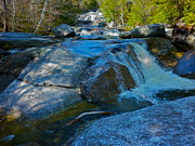 Dappled Light Photos - Step Falls in Blue 4 by George Ramos