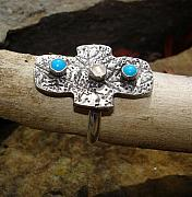 Silver Turquoise Jewelry Originals - Sterling Ring by Jamie Mount