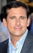 Red Carpet Photo Framed Prints - Steve Carell At Arrivals For Premiere Framed Print by Everett