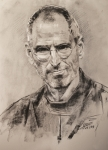 Food And Beverage Pastels Originals - Steve Jobs by Ylli Haruni