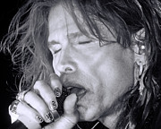 Steven Tyler Aerosmith Prints - Steven Print by Traci Cottingham
